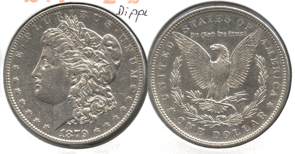 1879 Morgan Silver Dollar EF-45 #b Dipped