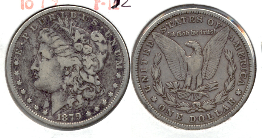 1879 Morgan Silver Dollar Fine-12 a