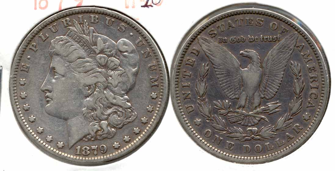 1879 Morgan Silver Dollar VF-20 d