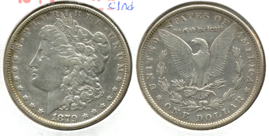 1879 Morgan Silver Dollar VF-20 e Cleaned