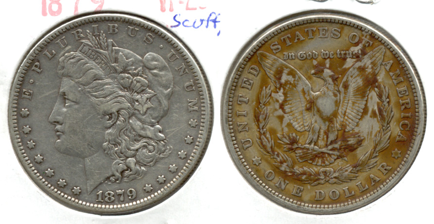 1879 Morgan Silver Dollar VF-20 f Scuffy