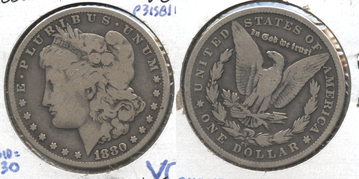 1880-CC Morgan Silver Dollar VG-8
