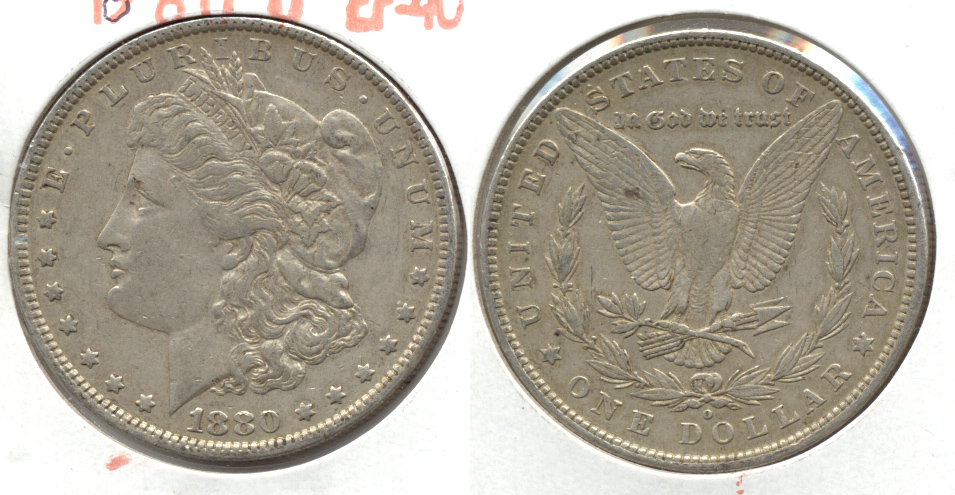 1880-O Morgan Silver Dollar EF-40 g