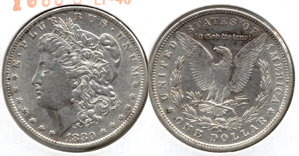 1880-O Morgan Silver Dollar EF-40 l