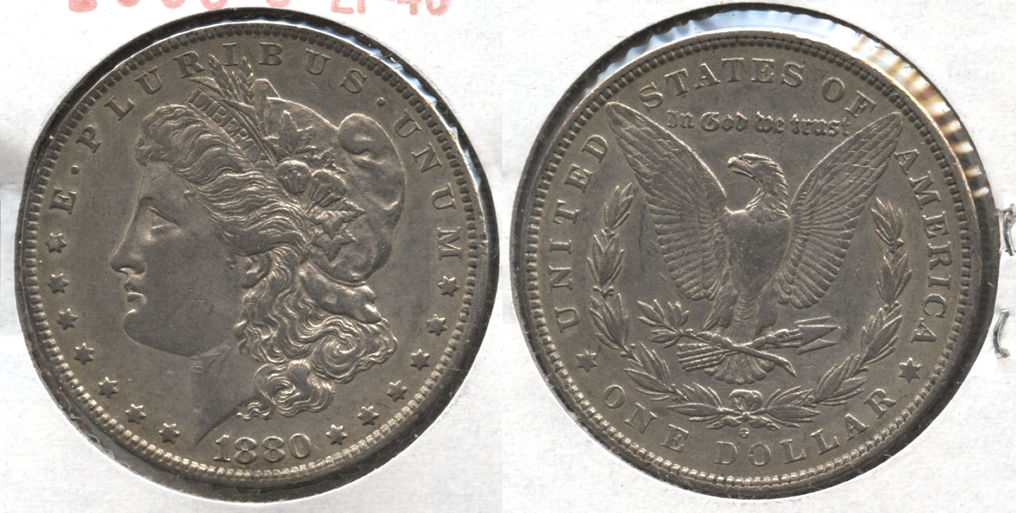 1880-O Morgan Silver Dollar EF-40 #s