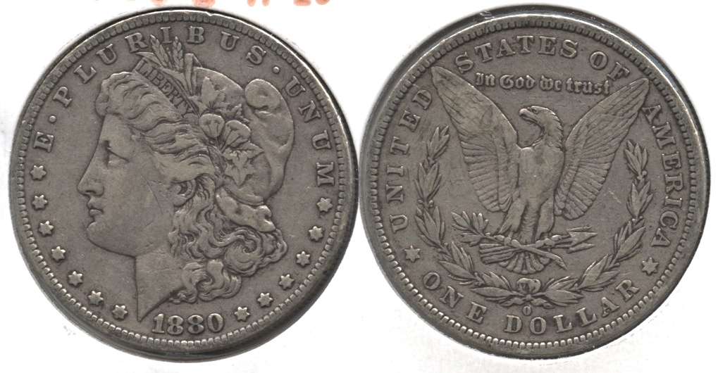 1880-O Morgan Silver Dollar VF-20 #a
