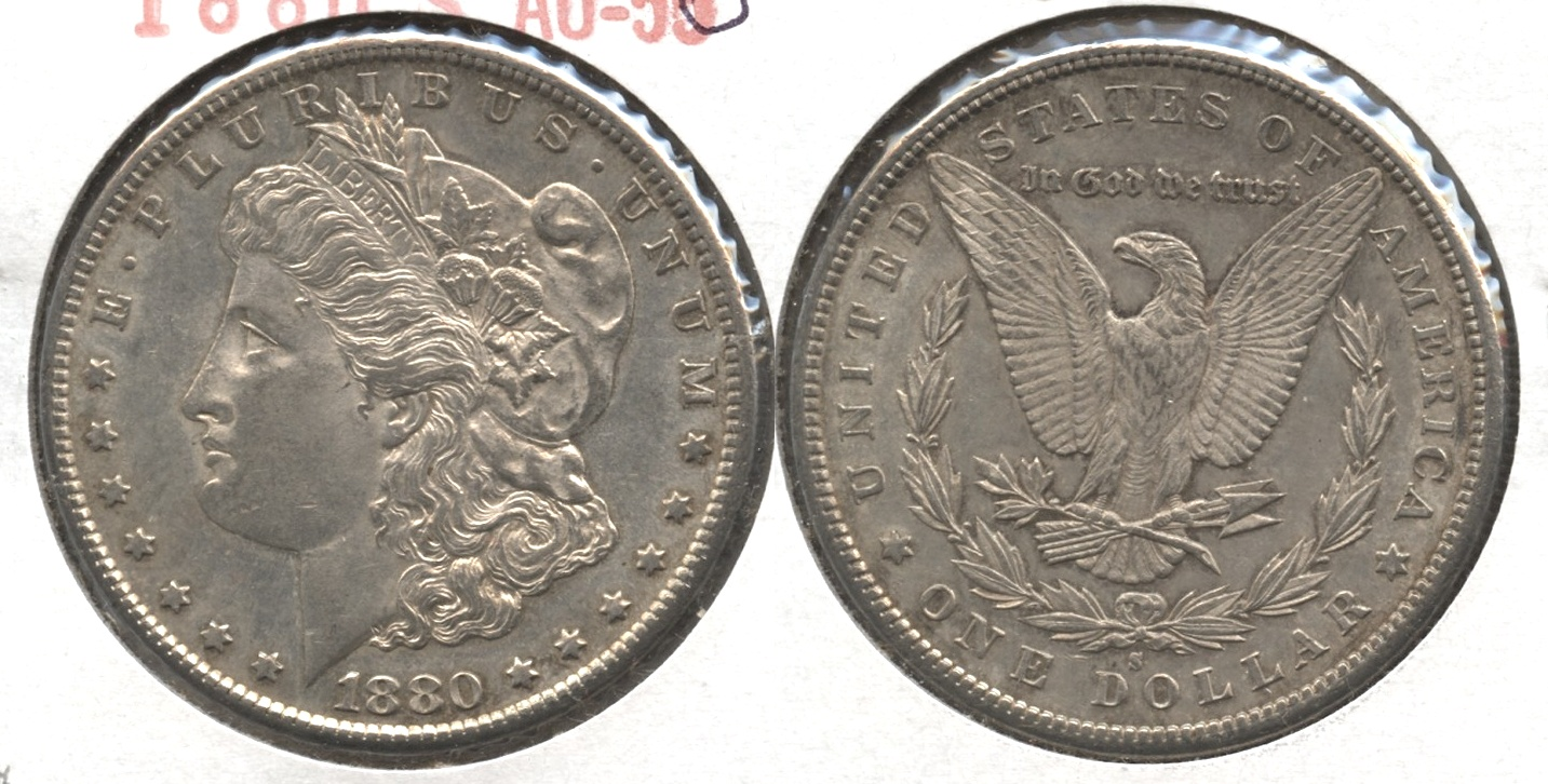 1880-S Morgan Silver Dollar AU-50 #i
