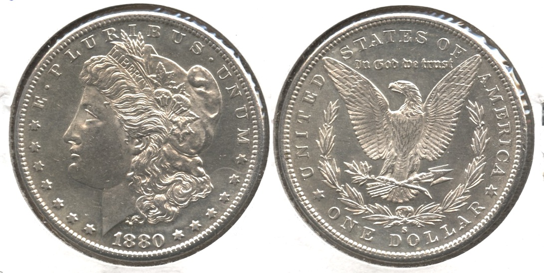 1880-S Morgan Silver Dollar AU-55 #f