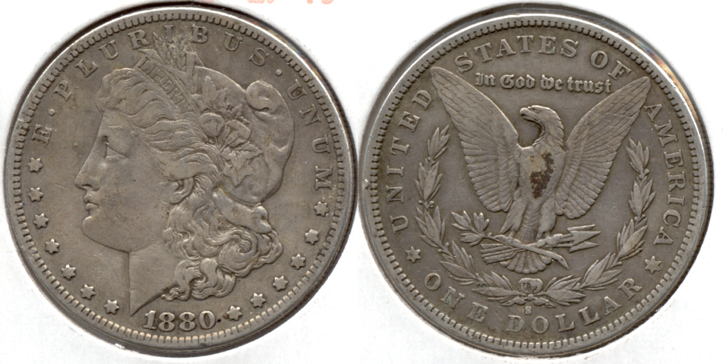 1880-S Morgan Silver Dollar EF-40 d