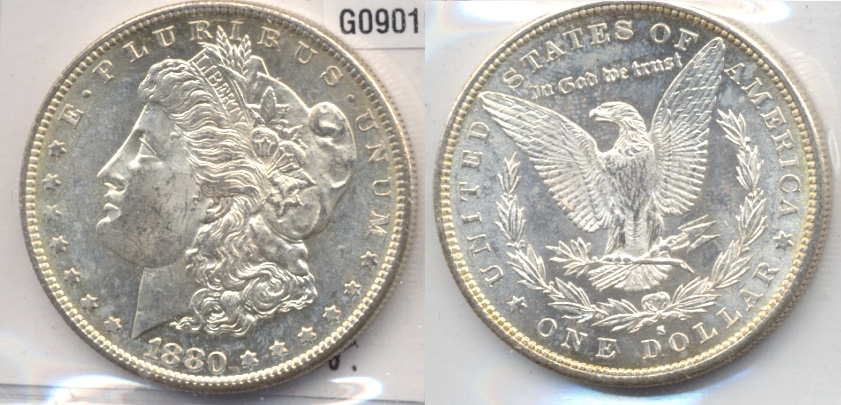1880-S Morgan Silver Dollar MS-60