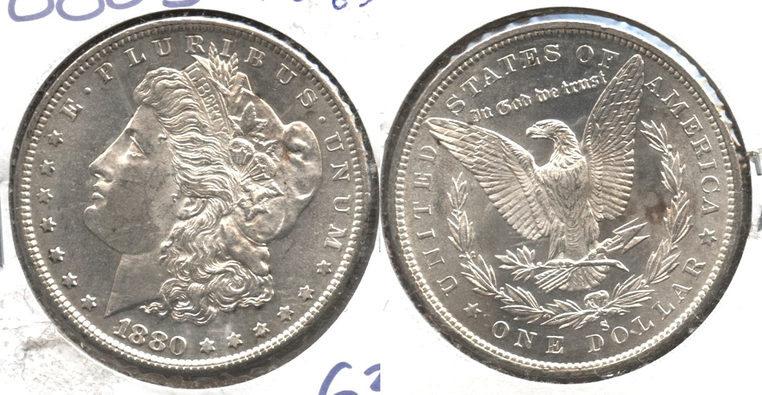 1880-S Morgan Silver Dollar MS-63 #c