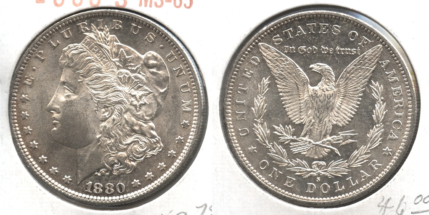 1880-S Morgan Silver Dollar MS-63 #h