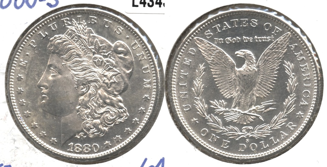 1880-S Morgan Silver Dollar MS-64