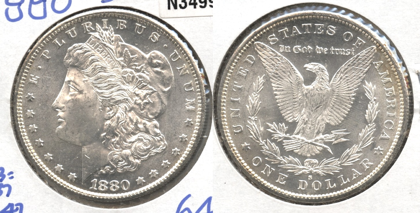 1880-S Morgan Silver Dollar MS-64 #b