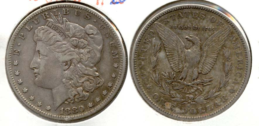 1880-S Morgan Silver Dollar VF-20