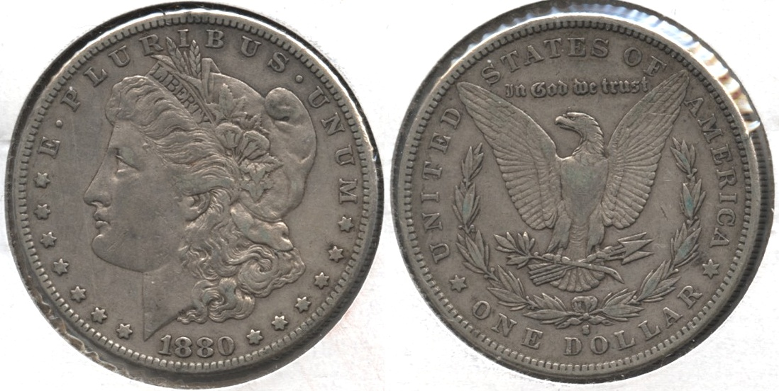 1880-S Morgan Silver Dollar VF-20 #a