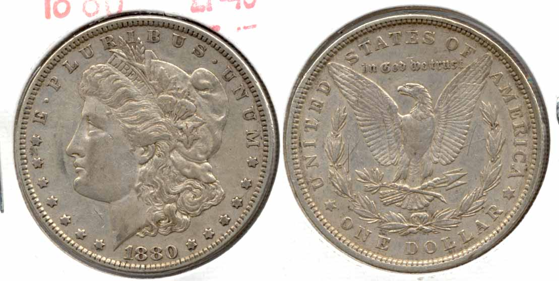 1880 Morgan Silver Dollar EF-40 c