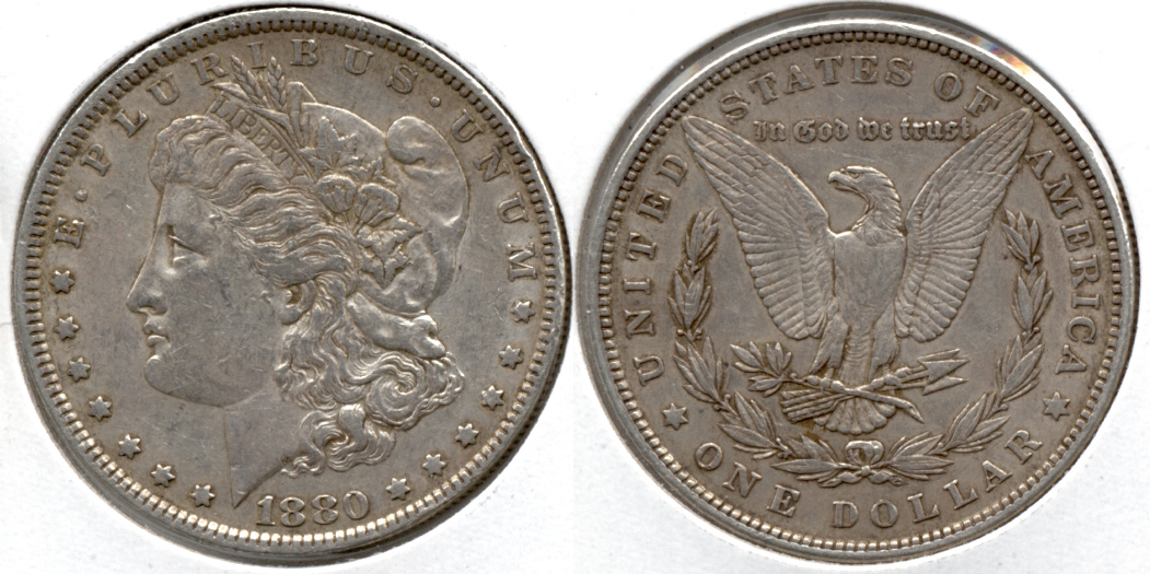 1880 Morgan Silver Dollar EF-40 k