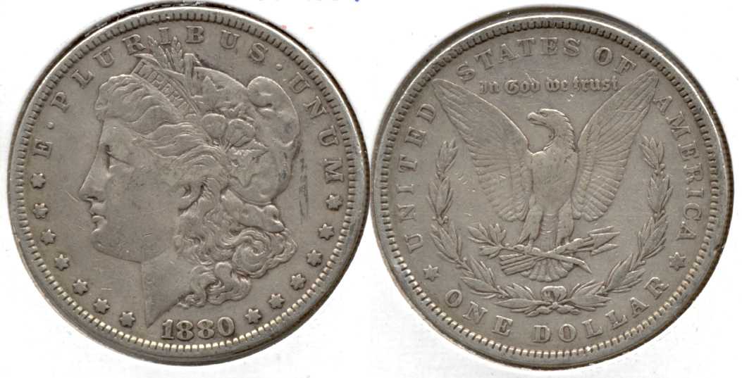 1880 Morgan Silver Dollar Fine-12 a