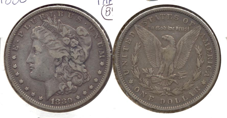 1880 Morgan Silver Dollar Fine-15