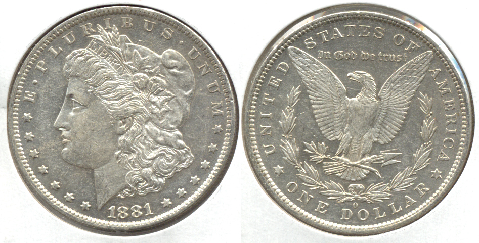1881-O Morgan Silver Dollar AU-50 b