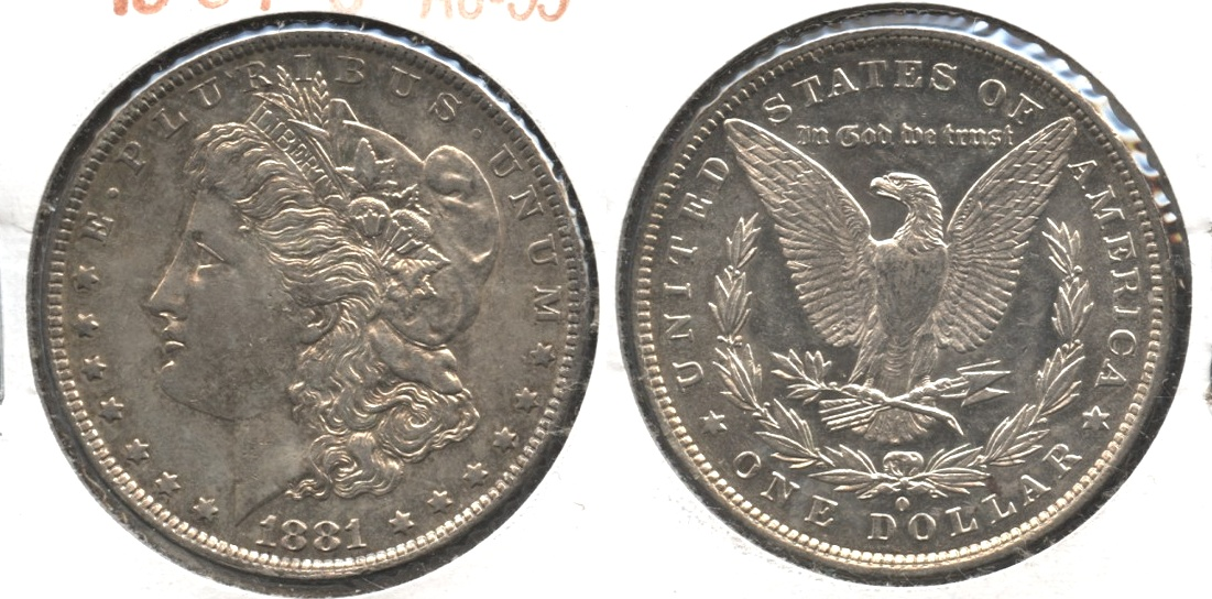 1881-O Morgan Silver Dollar AU-55 #b
