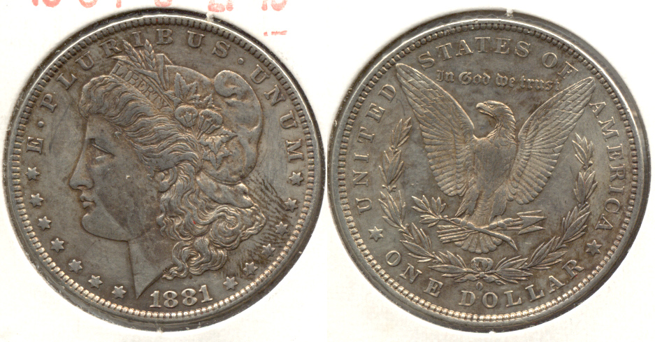 1881-O Morgan Silver Dollar EF-40 d