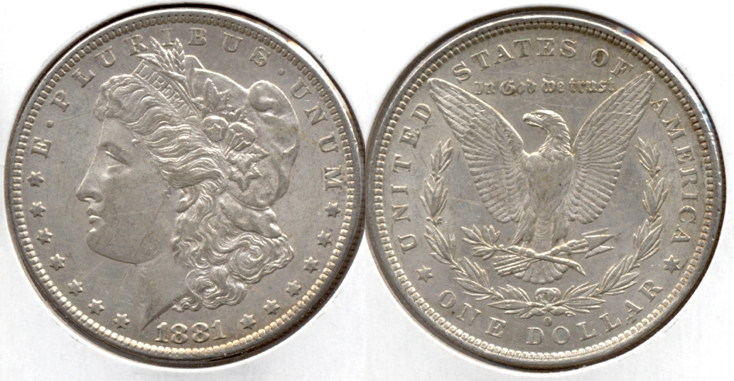 1881-O Morgan Silver Dollar EF-40 i