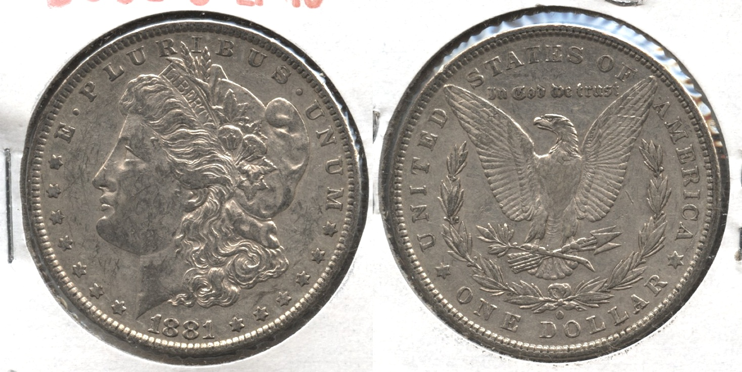 1881-O Morgan Silver Dollar EF-40 #r