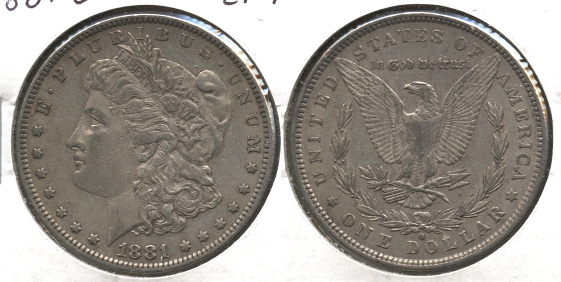 1881-O Morgan Silver Dollar EF-45 #f