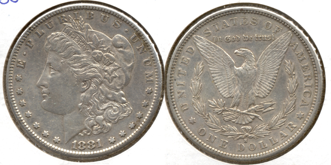 1881-S Morgan Silver Dollar EF-40 f