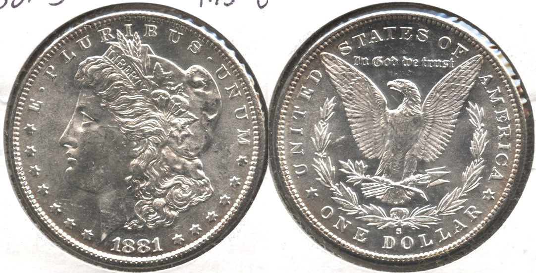 1881-S Morgan Silver Dollar MS-62 #d