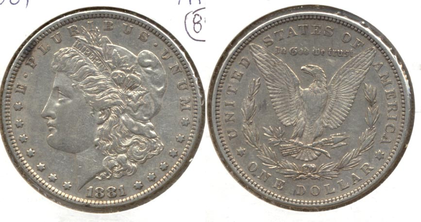 1881 Morgan Silver Dollar EF-40