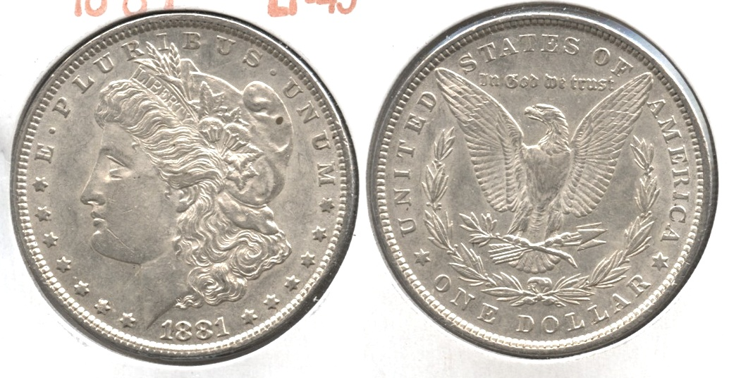 1881 Morgan Silver Dollar EF-45