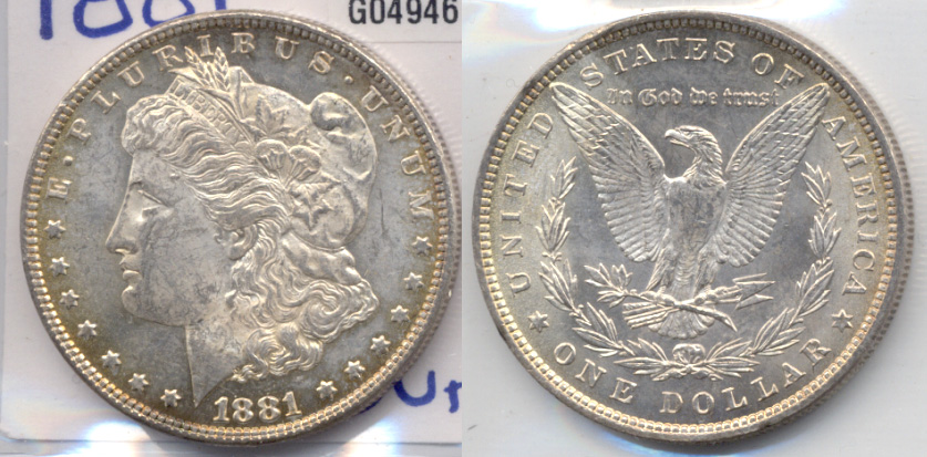 1881 Morgan Silver Dollar MS-60