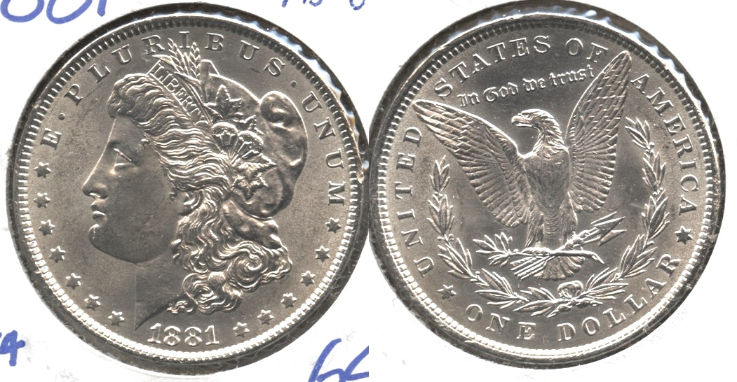 1881 Morgan Silver Dollar MS-64