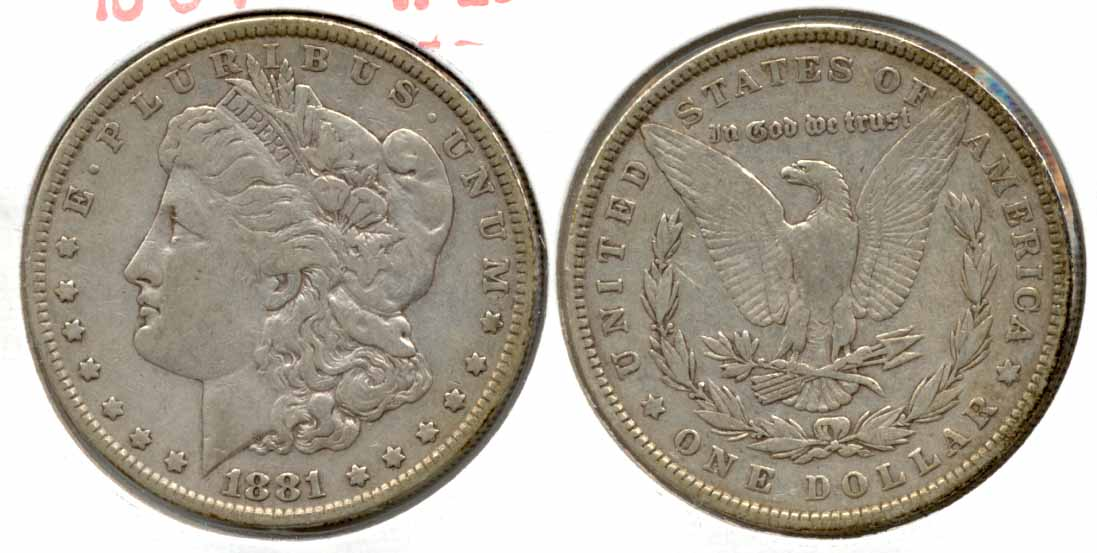 1881 Morgan Silver Dollar VF-20 a