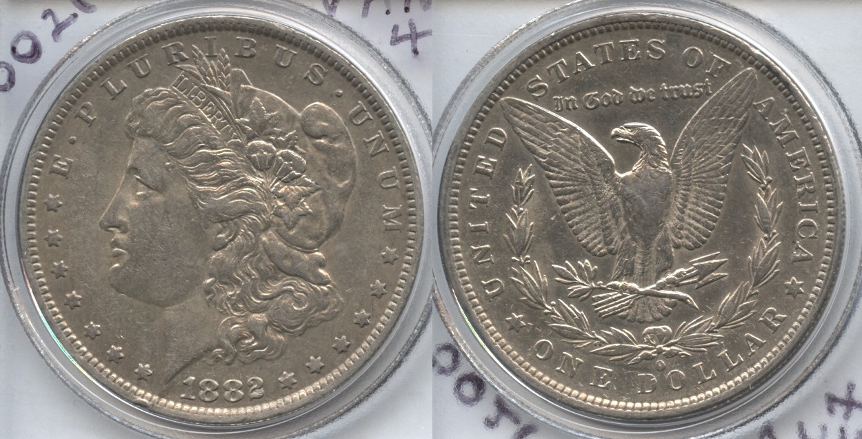 1882-O O over S Morgan Silver Dollar VF-30 Cleaned VAM-3 O/S Flush Top-100