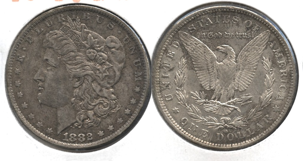 1882-O Morgan Silver Dollar EF-40 #q