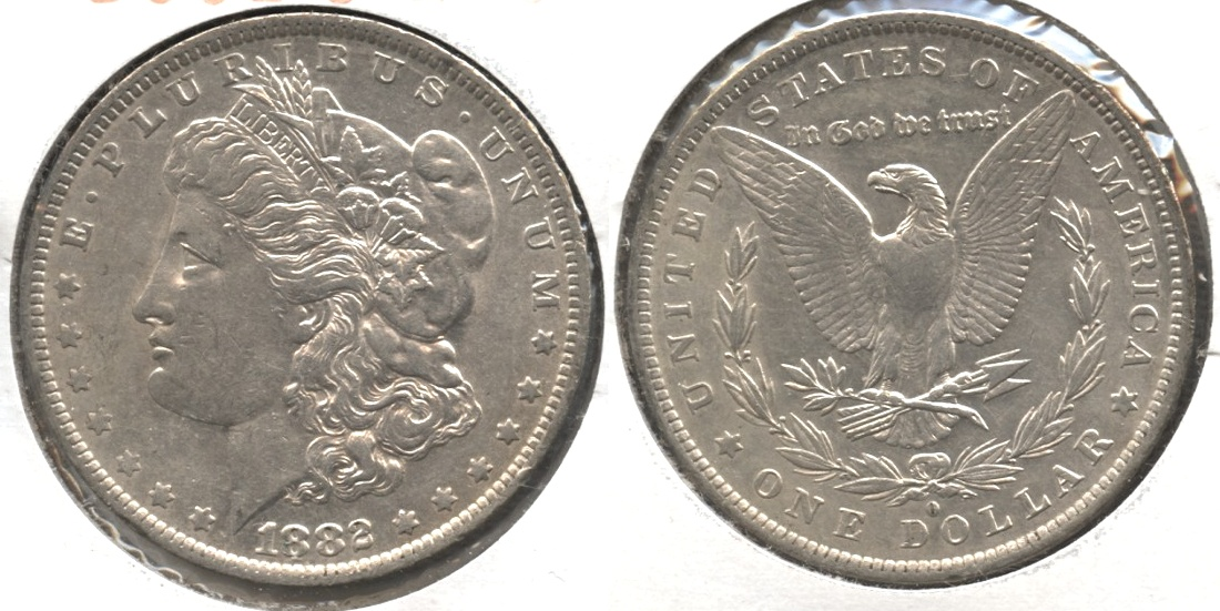 1882-O Morgan Silver Dollar EF-45 #b