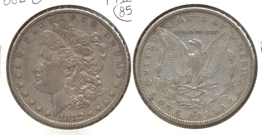 1882-O Morgan Silver Dollar VF-20