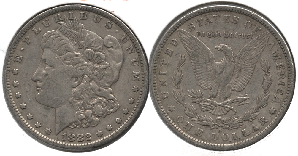 1882-O Morgan Silver Dollar VF-20 c