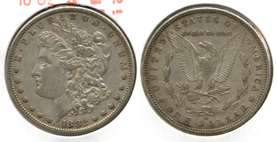 1882-S Morgan Silver Dollar EF-40