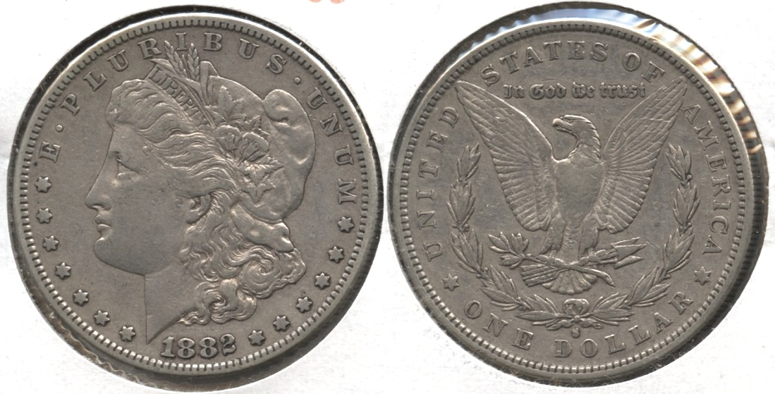 1882-S Morgan Silver Dollar VF-20 #g