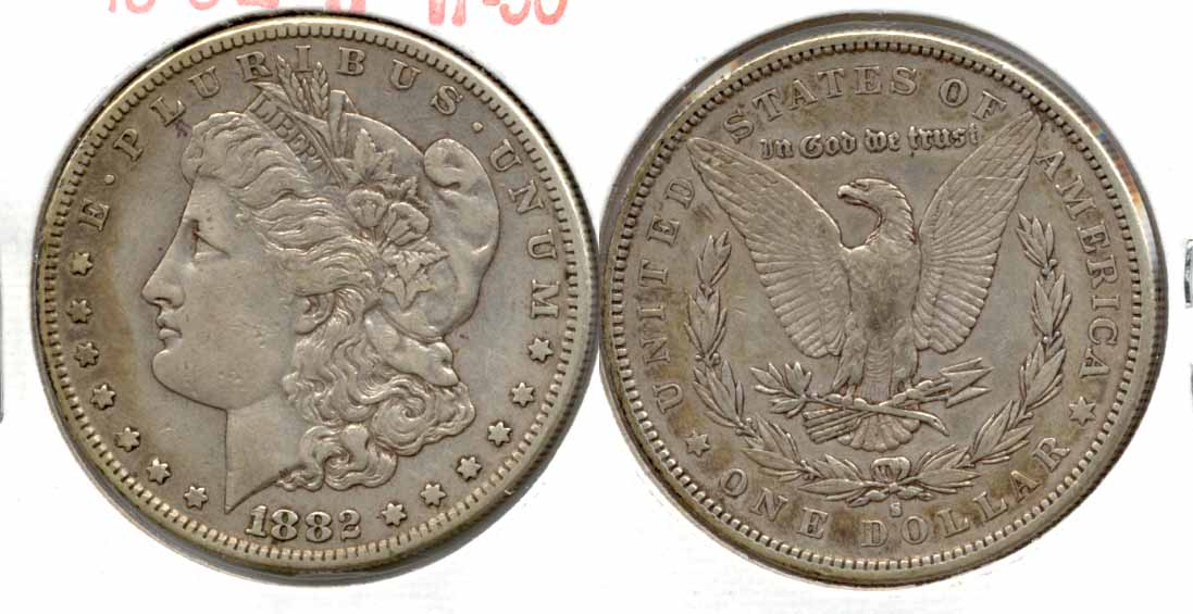 1882-S Morgan Silver Dollar VF-30