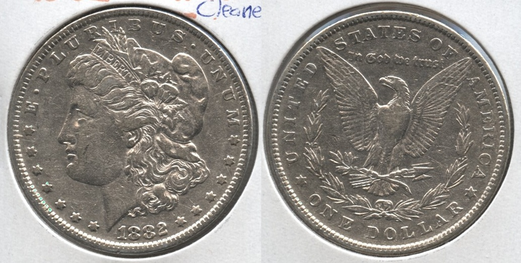 1882 Morgan Silver Dollar VF-30 c Cleaned