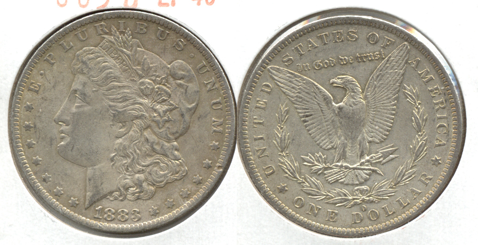 1883-O Morgan Silver Dollar EF-40 g