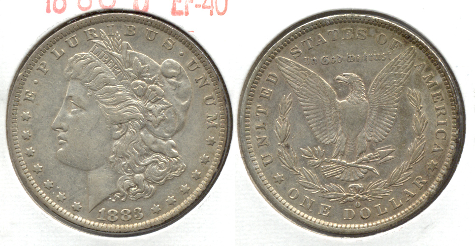 1883-O Morgan Silver Dollar EF-40 h