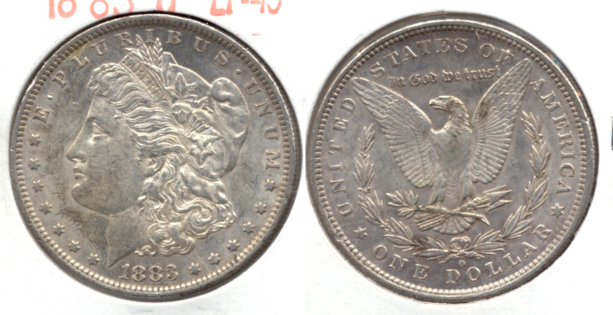 1883-O Morgan Silver Dollar EF-45