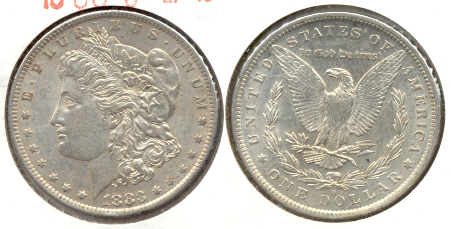 1883-O Morgan Silver Dollar EF-45 a